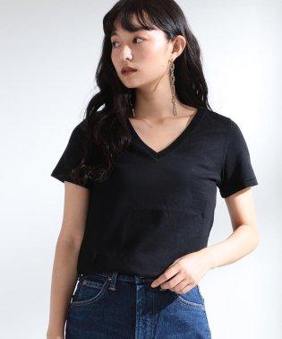 Ray BEAMS / コットン 天竺 Vネック Tシャツ