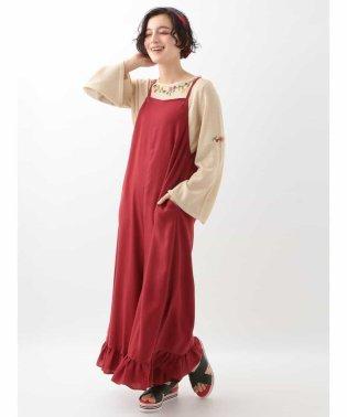 裾フリルサロペットパンツ