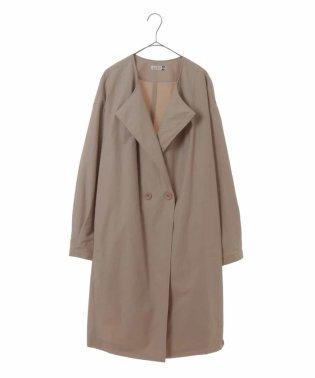【大きいサイズ】トライアングルカラースプリングコート