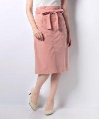 共リボン付きパステルタックタイトスカート