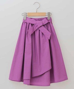 [100-130]ウェストリボンラップスカート[WEB限定サイズ]