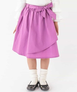 [140-150]ウェストリボンラップスカート