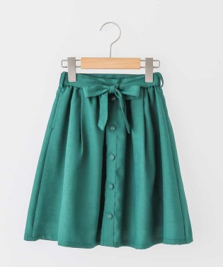 [140-150]フロントボタンウエストリボンスカート