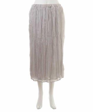 【大きいサイズ】サテンプリーツスカート