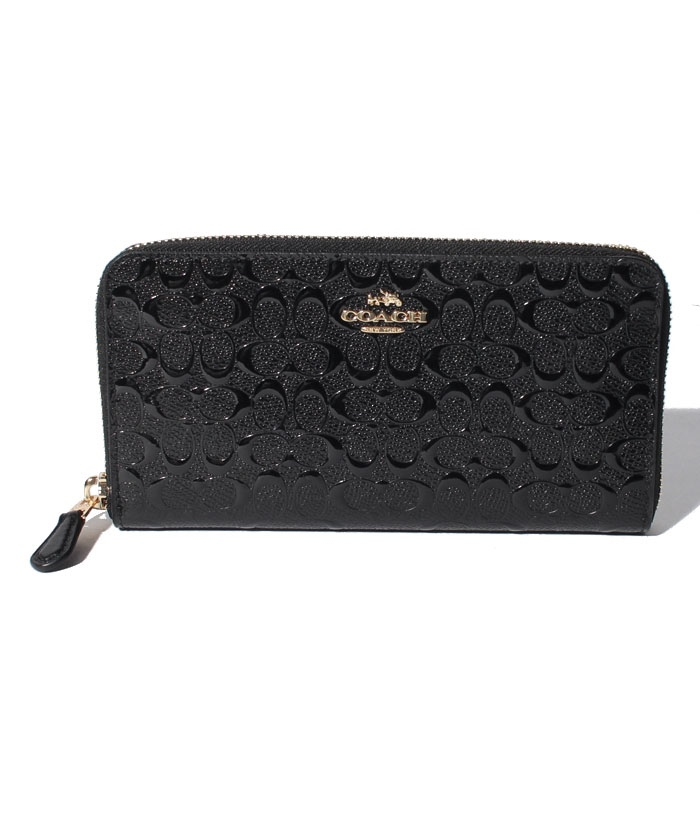 COACH OUTLET F54805 IMBLK ラウンドファスナー長財布