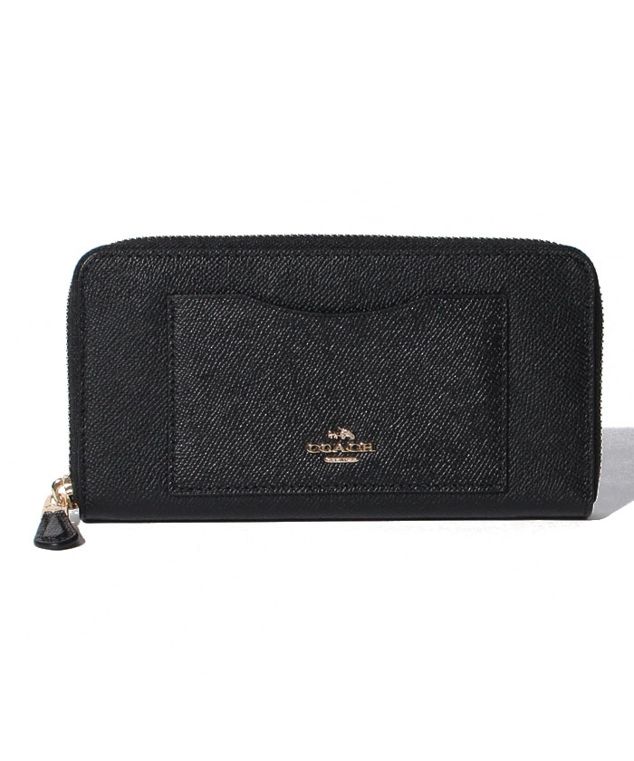 COACH OUTLET F54007 IMBLK ラウンドファスナー長財布
