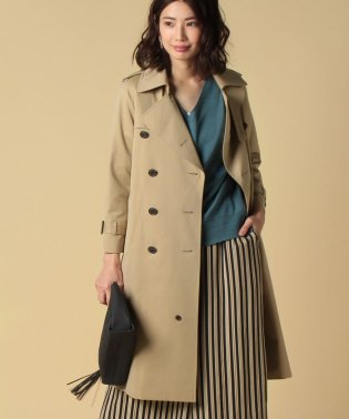 coton twilllong trench coat