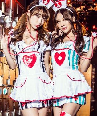 costume【コスチューム】コスプレ/ストライプエプロンナース