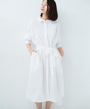 【mer8月号掲載】気持ちが凛と改まる リボン付きオーバーサイズシャツワンピース