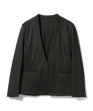 【洗える】Demi-Luxe BEAMS / ポンチ ノーカラー Vネックジャケット