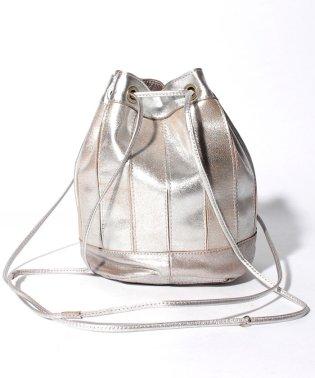ペルケ perche / エアリーゴートパッチワーク巾着バッグ