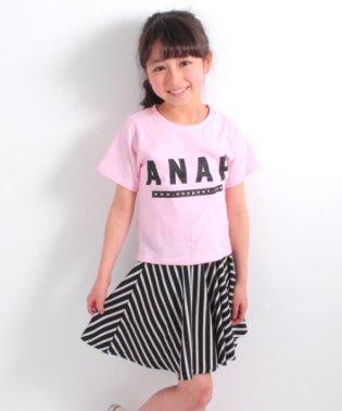 Tシャツ&ナナメストライプスカート  SET UP