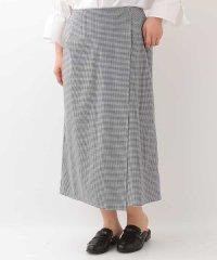 【大きいサイズ】ギンガムチェックラップデザインスカート
