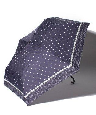 ドットフラワー柄折りたたみ傘
