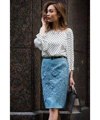 レースレイヤードタイトスカート[DRESS/ドレス]