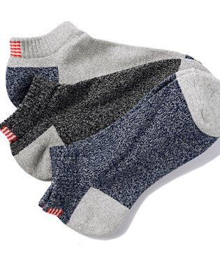 Healthknit【ヘルスニット】星条旗柄3Pソックス(靴下3枚セット)