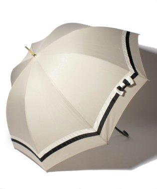 雨晴兼用 長傘 (UVカット&軽量) バイカラーベージュ×ブラック