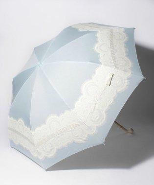 雨晴兼用 折傘 (UVカット&軽量) レース&リボン