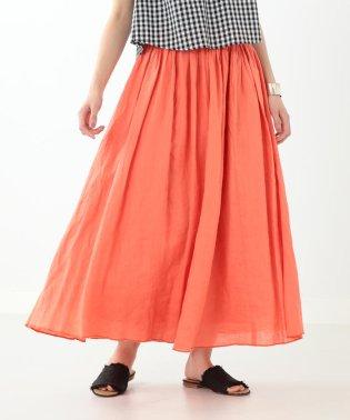 Ray BEAMS / 麻 マキシ ギャザースカート