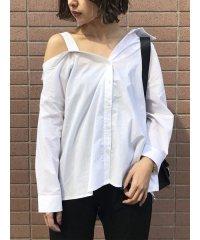ワンショルダーシャツ