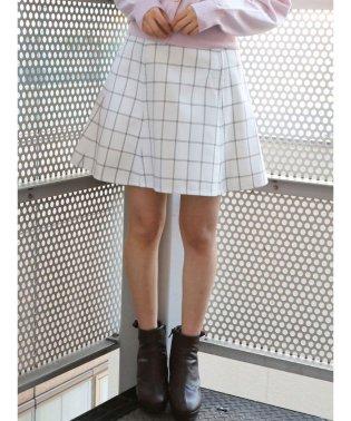 【non-no9月号掲載】バックルフレアミニスカート