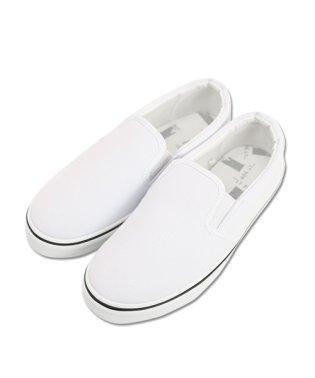 (スニーカー)シンプル&柄プリントスリッポンスニーカー【M】【L】【LL】レディース スリッポン 大きいサイズ キャンバス 靴 夏 おしゃれ 歩きやすい ぺたん