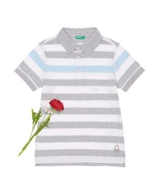 KIDSボーダー柄ポロシャツ