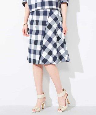 【洗える】【セットアップ対応】ブリジットチェックデザインフレアスカート