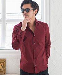 Garson Wave【ギャルソンウェーブ】日本製ブロードホリゾンタルカラー長袖シャツ