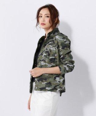 【洗える】カモフラージュプリント ジャケット