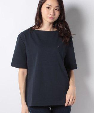 【セットアップ対応商品】ボンデッドジャージボートネックTシャツ