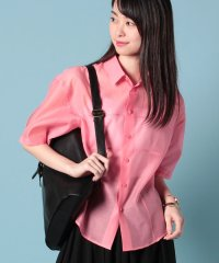 cotton silk organdyshort sleeve shirt