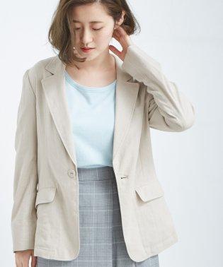 【セットアップ対応】麻混テーラードジャケット
