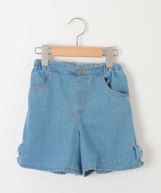 [100-130]裾リボン付ショートデニムパンツ[WEB限定サイズ]