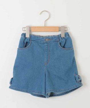 [140-150]裾リボン付ショートデニムパンツ