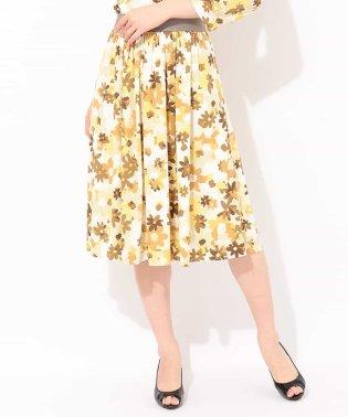 【洗える】【セットアップ対応】フラワープリントフレアスカート