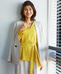 【TVドラマ着用】【セットアップ可】Linen Like OX ダブルブレストジャケット