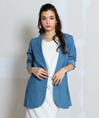 デニム風テーラードジャケット