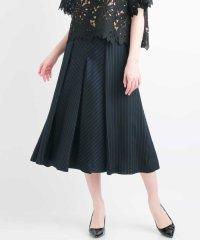 【日本製・接触冷感】キュプラストライプデザインスカート