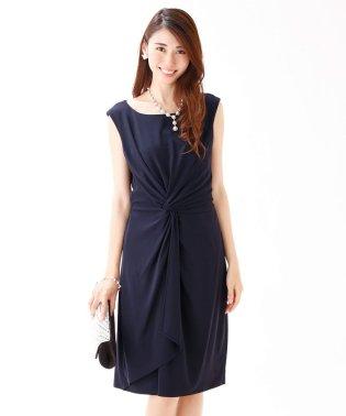 ≪結婚式 二次会 パーティー≫ウエストツイストデザインドレス