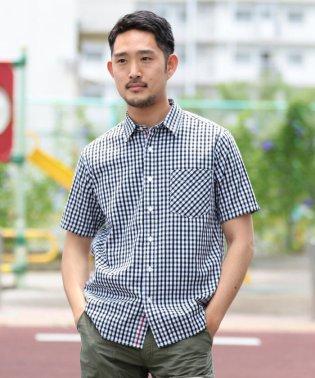 BEAMS / ギンガムチェック 半袖シャツ