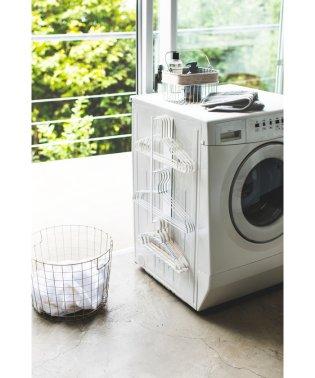 マグネット洗濯ハンガー収納ラック タワー ホワイト