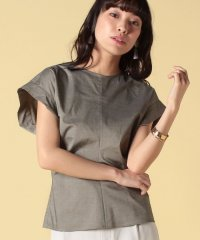 polyester chambraygather top