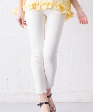 【YANUK/Patricia ankle】ホワイトデニムパンツ