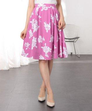 単色花柄スカート