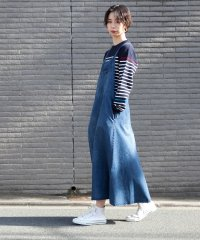 デニム/ツイル生地のジャンパースカート