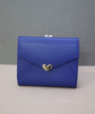 【牛革】シンプルハートチャーム二つ折り財布/ウォレット