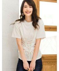 コルセット風Tシャツ