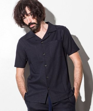 JH junhashimoto(ジェイエイチ ジュンハシモト) ストレッチリネンハーフスリーブシャツ