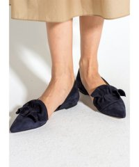 【L'Arianna】02-suede frill flats
